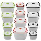 4PC Clear Plastic Food Storage Lunch Box Microwave Containers Tub Clip Lock Lid