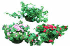 PK Green 25cm Artificial Geranium Hanging Pot