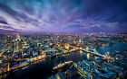 London Uk City at Night Canvas Pictures Modern Cityscape New Wall Art Prints