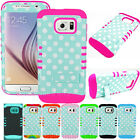 Polka Dots Baby Teal Blue Hybrid Cover Case for Samsung Galaxy S6 Edge+ PLUS