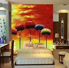 3D Oil Painting Colorful Trees 29 Wall Paper Wall Print Decal Wall AJ Wall Paper
