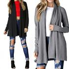 Womens Fashion Long Sleeve Cotton Cardigan Loose vintage gift Outwear Coat Tops