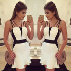 Women's Sexy Summer Bandage Bodycon Clubwear Evening Party Cocktail Mini Dress
