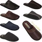 New Mens Slip On Coolers Slippers Warm Flat Comfort Mules Shoes Sizes Uk 7-12