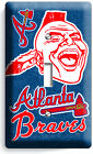ATLANTA BRAVES BASEBALL LIGHT SWITCH POWER OUTLET WALL PLATE COVER MAN CAVE ART