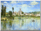 Stretched Canvas Art Print Claude Monet Vetheuil in Summer Painting Reproduction