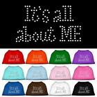 It's All About Me Rhinestone Dog Shirt Pet Apparel Clothes Funny Dog Tee BLING
