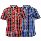 Mens Checked Shirt By Tokyo Laundry Short Sleeved