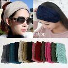 Women Ladies Winter Crochet Knit Knitted Wool Hat Headband Headwrap Ear Band
