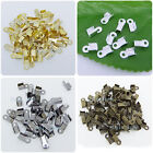 800 Pcs Silver Gold Bronze Plated Double Caps End Crimps beads tips 4 x 6mm P106