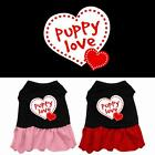Puppy Love Rhinestone Dog Dress Valentines Day Puppy Clothes Apparel