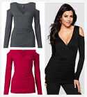 New Women's Sexy Expose Shoulder Tight Long Sleeve T-Shirt Tops Blouse Hoodie