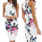 Women Summer Sexy Floral Casual Party Evening Cocktail Short Slim Dress H