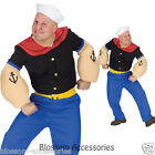 J97 Popeye Sailorman Sailor Humourous Mens Halloween Fancy Dress Adult Costume