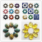 8pcs 25x18x7mm Wonderful Mixed Stone Oval CAB CABOCHON Lx140-1(Randomly send)