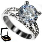 4.85CTW HUGH BRILLIANT CUT STONE - WEDDING ENGAGEMENT RING w/BOX size 9,10
