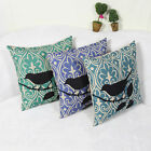 Cotton Linen Pillowcase Birds On Tree Cushion Cover Waist Sofa/Car Home Decor