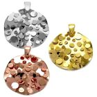 925 Sterling Silver Round Pop-Up Bubble Pendant (Choose Color)