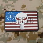 3% III PERCENT DEFEND LIBERTY SEAL TEAM Punisher American  3D PVC Patch
