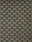 Radici Grey Circles Diamond Boxes Dots Contemporary Area Rug Geometric 6690
