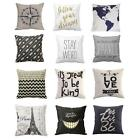 "Fashion 18"" Linen Cotton Throw Pillow Case Cushion Cover Home Sofa Art Decor Hot"