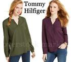 NEW WOMENS TOMMY HILFIGER TUNIC BLOUSE! SLIGHTLY SHEER PULLOVER BLOUSE VARIETY