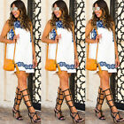 Womens Summer Sundress Floral Casual Dress Evening Party Ladies Short Mini Dress