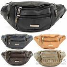 Mens / Ladies / Womens Leather Bumbag / Waist Bag with Adjustable Waist Strap