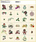 XMAS 1. CD or USB machine embroidery designs files  most formats holidays