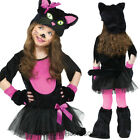 CK622 Miss Kitty Cat Animal Costume Girls Toddler Fancy Dress Up Book Week