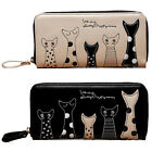 Fashion Women's Cat Print Long Leather Purse Clutch Handbag Card Holder Wallets