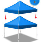 New 10'x10' Ez POP UP Tent Replacement Canopy Instant Gazebo Polyester Top Cover