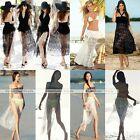 Women Lace Crochet Convertible Beach Bikini Spa Swimwear Cover Up Dress Skirt