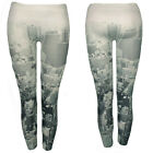 New Ladies City Womens Building Printed Skinny Stretchy Women Leggings Bottom
