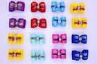 20pcs New Dog Hair Bows Topknot Rhinestone Top Pet Dog Grooming  Accessories