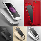 Luxury Hybrid Tempered Glass + Acrylic Hard Cover Skin For iPhone 6 Plus Case