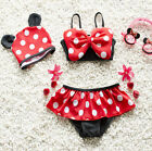 Baby Girls Kids Minnie Mouse Bikini Set Swimwear Child Bathing Swim Suit Costume