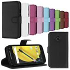 Fashion Magnetic Flip PU Leather Wallet Case Cover Stand For Motorola Phones