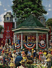 Patriotic Band Concert by Stevan Dohanos Painting Print on Wrapped Canvas