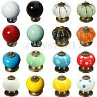 Colorful Vintage Ceramic Door Knobs Cabinet Drawer Cupboard Pull Handle Bedroom