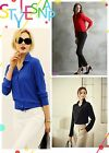 2016 Stylish Women Chiffon Long Sleeve Button Down Shirt Casual Blouse Tops - CB