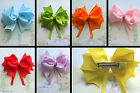 HAIR BOW  RIBBON CLIP GRIP 4 INCHES BLACK PURPLE RED GREEN BLUE YELLOW