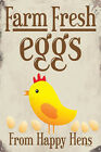 Farm Fresh Eggs Metal Wall Plaque Sign