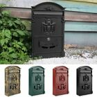 Large Heavy Duty Aluminium Lockable Secure Mailbox Postbox Mail Letter Post Box
