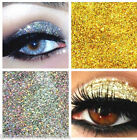 Glitter Eyes - Duo Silver & Gold Holographic Eye Shadow Fixing gel Long Lasting