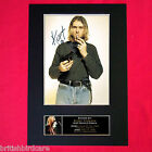 KURT COBAIN Mounted Signed Photo Reproduction Autograph Print A4 76