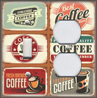 Metal Light Switch Plate Cover - Kitchen Decor Vintage Coffee Signs Decor Coffee