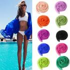 Lady Beauty Chiffon Wrap Dress Sarong Pareo Beach Bikini Swimwear Cover Up Scarf