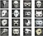 Venetian Unpainted Masquerade Ball Party DIY White Mask for Halloween Costume