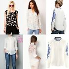 Fashion lace Women spring summer new blouse top loose long sleeve casual shirts